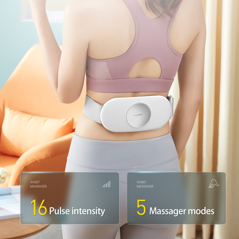 KEEPFIT Lumbar Massage Abdominal Back Waist Massager Heated Pulsed Infrared Light Low Frequency Magnetic Effect Relieve Pain