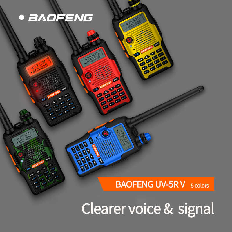 Baofeng Walkie Talkie UV-5R V двухдиапазонный мощный радиоприемник с 136-174/400-520 МГц 1 шт boafeng трансивер 5 цветов