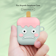 Cute Cartoon Little Monster Soft Silicone Case For Apple Airpods Wireless Bluetooth Earphone Charging Box Cover Coque