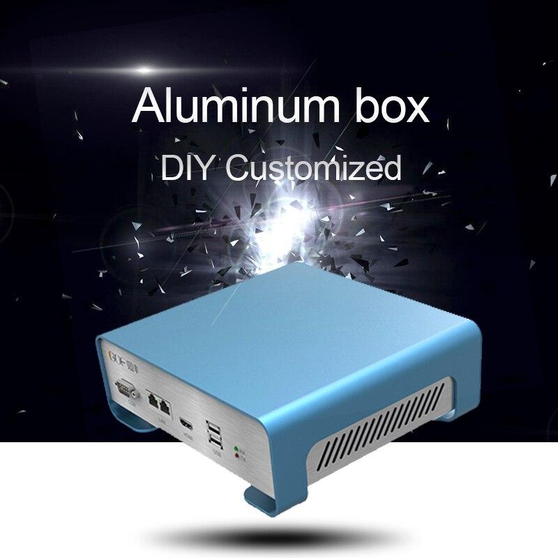 Diy Electronic Metal Box GOF-P01 133.4x55x109mm (WxH-D) Aluminum Extrusion Bending Enclosure Base Extrued Case