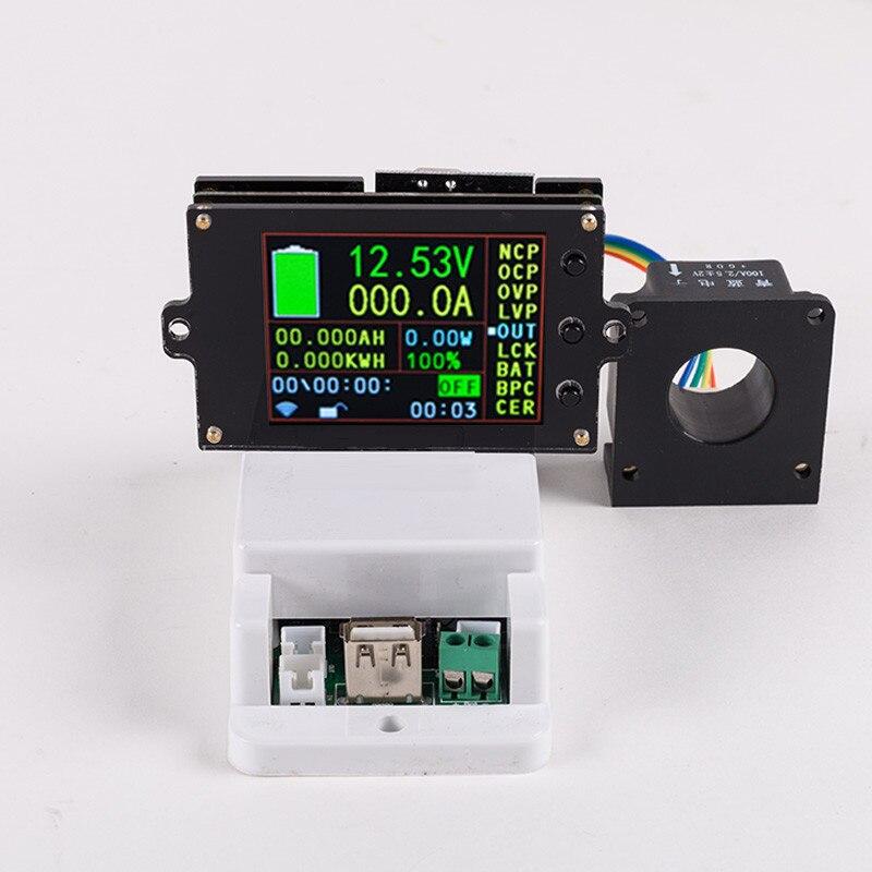 DC 500V 100A 200A 500A беспроводной измеритель напряжения Амперметр солнечная батарея Зарядка кулометр мощность детектор Тестер