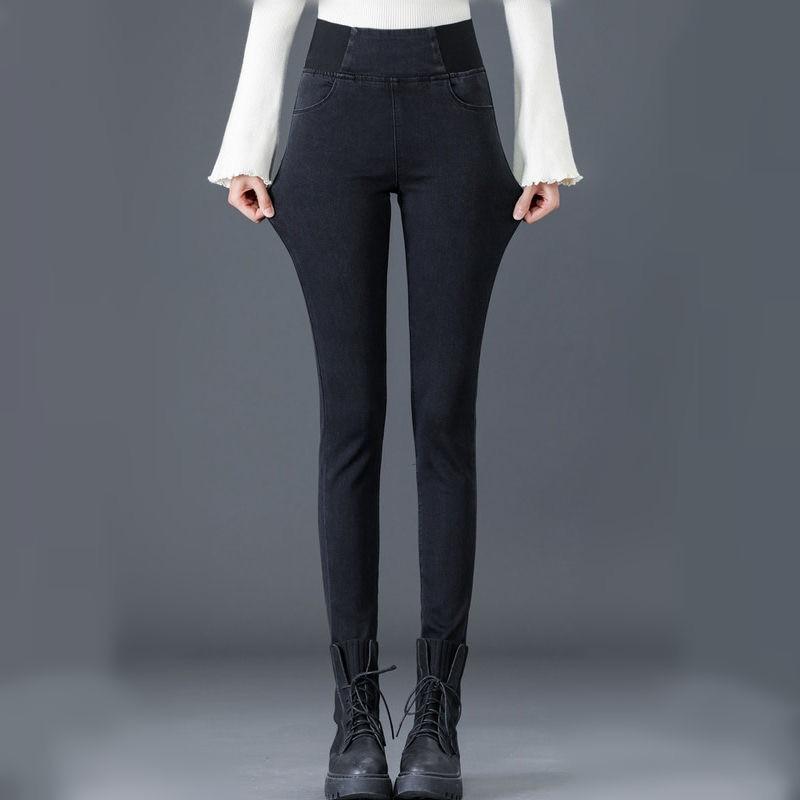 Pants Plus Size 26-34 Slim Jeans For Women Skinny High Waist Jeans Woman Blue Denim Pencil Pants Stretch Waist Women Basic Jeans 3