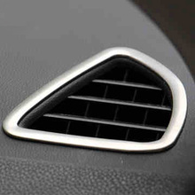 Lsrtw2017 Stainless Steel Car Dashboard Vent Trims for Mitsubishi Outlander Sport Asx RVR 2011-2019 Accessories