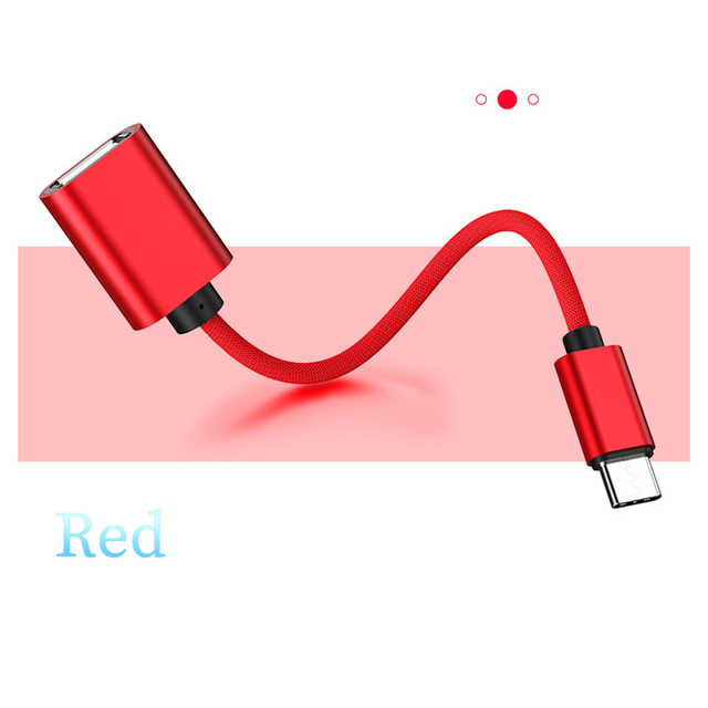 Type C To USB A OTG Adapter Cable USB C OTG Converter For Xiaomi Redmi Samsung Mobile Phone Camera Printer Stick Data Connector