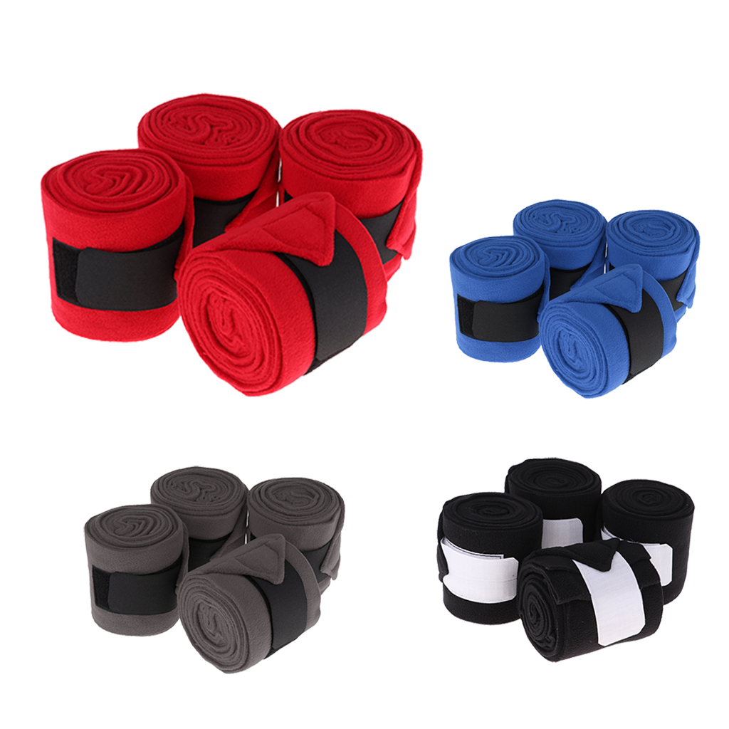 4 Pieces Horse Polo Wraps Pony Legging Protection Wrap Bandage Polo Outdoors Horse Care Grooming Equestrian Equipment