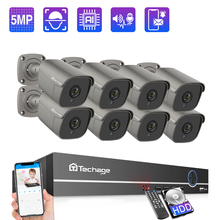 Techage 8CH 5MP POE NVR sistema di telecamere di sicurezza registrazione Audio bidirezionale telecamera IP Kit di videosorveglianza CCTV per interni esterni