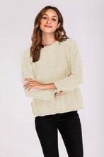 Женский тонкий теплый свитер с круглым вырезом и длинным рукавом