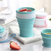 Silicone Travel Cup Retractable Folding Coffee Cup Telescopic Collapsible Drinking Tea Cup Outdoor Sports Tour Camping Water Cup