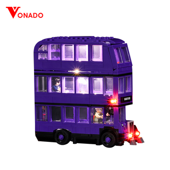 Vonado Light Compatible For Lego 75957 Harry-Potter Series Bus Building Bricks Harri Movie School Witchcraft Technic Blocks Toys image