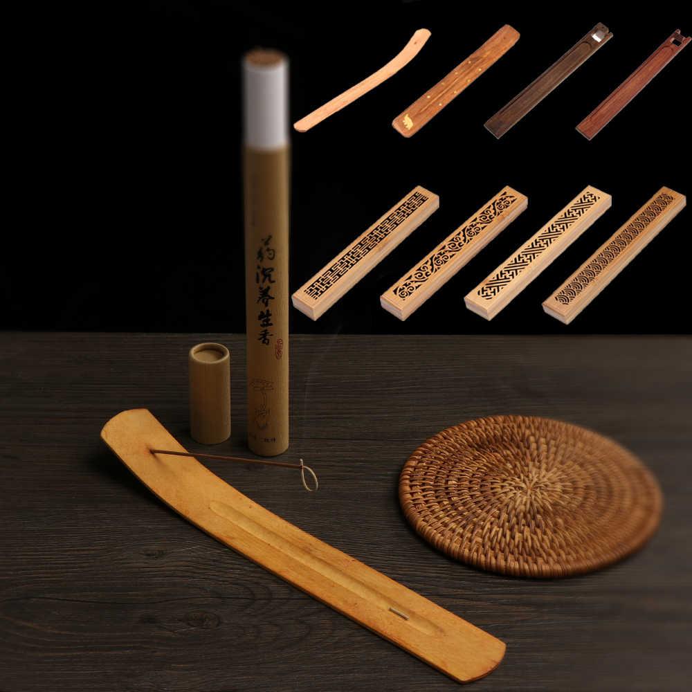 1 шт. ретро натуральный деревянный резной цветок ладан курильница Joss-stick вставленный держатель пепельница ароматерапия домашний декор ремесла