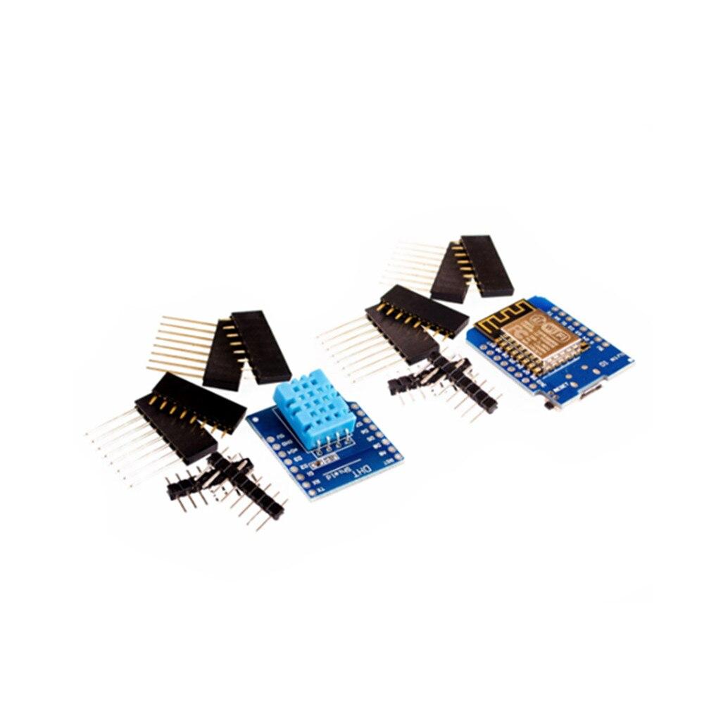 1 комплект USB WeMos D1 Mini wifi макетная плата D1 Mini nodemcu Lua IOT плата + плата цифрового датчика температуры/влажности DHT11