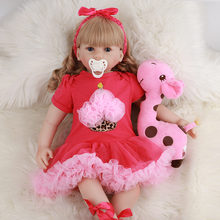 Кукла реборн jingxin prinses 60 см кукла младенец из силиконовой