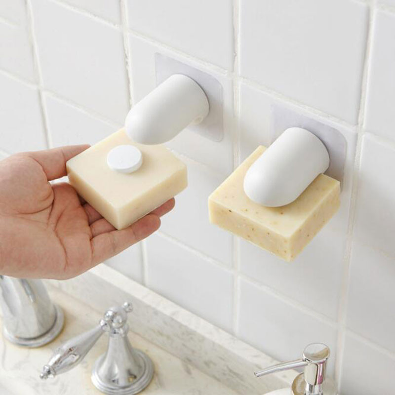 Magnetic Soap Holder Powerful Suction Cup Holder Wall-mounted Soap Box Kitchen Bathroom Soap Hanger Household Bathroom Gadgets