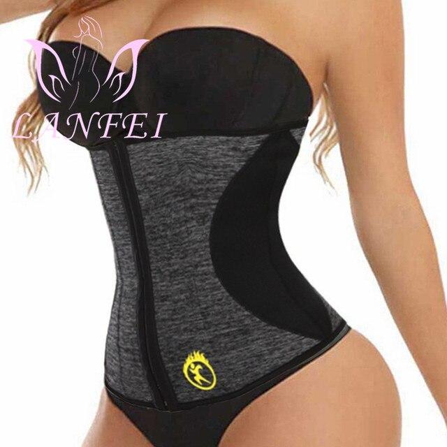 LANFEI Waist Tainer Tummy Shaper Belt Women Hot Neoprene Sweat Body Shaper Strap Girdle Slimming Waist Trimmer Corset Shapewear