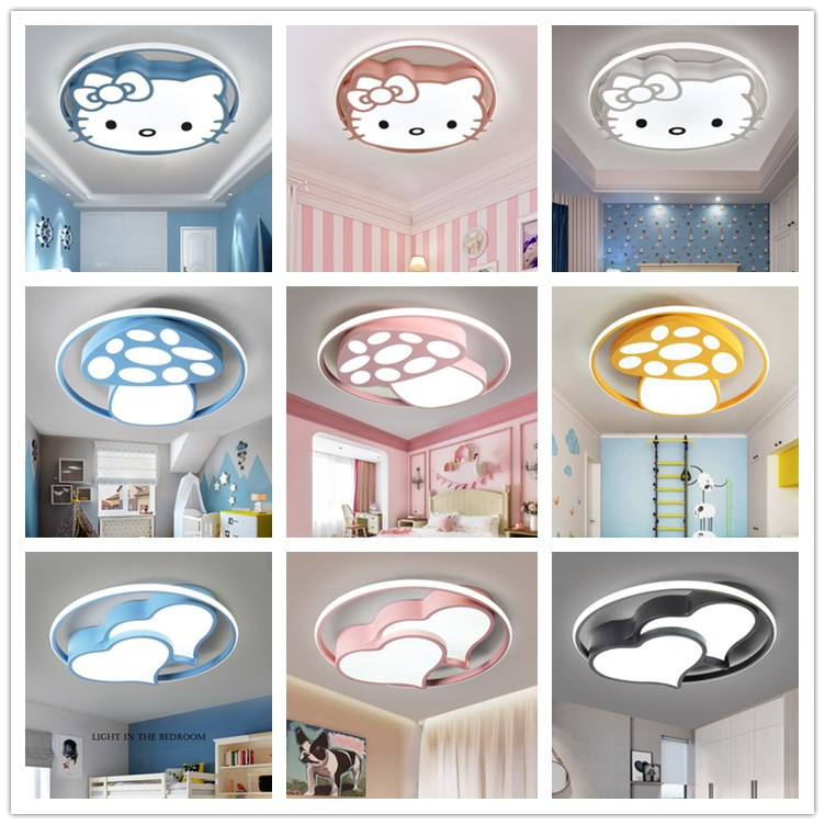 LED Ceiling Lamp Iron Art Bedroom Restaurant Room Lamps Special Shape Small Living Room Cute GIRL'S And BOY'S CHILDREN'S Room|Professional Lighting| |  - title=