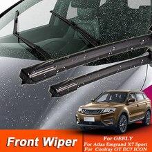 Limpiaparabrisas de estilo para coche, 2 uds., limpiaparabrisas para Geely Emgrand EC7 GT Atlas Vision GX7 Coolray, limpiador de coche, accesorio externo