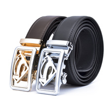Manufacturers Direct Supply Superman MEN'S Leather Belt Pure Split Cowhide Autom