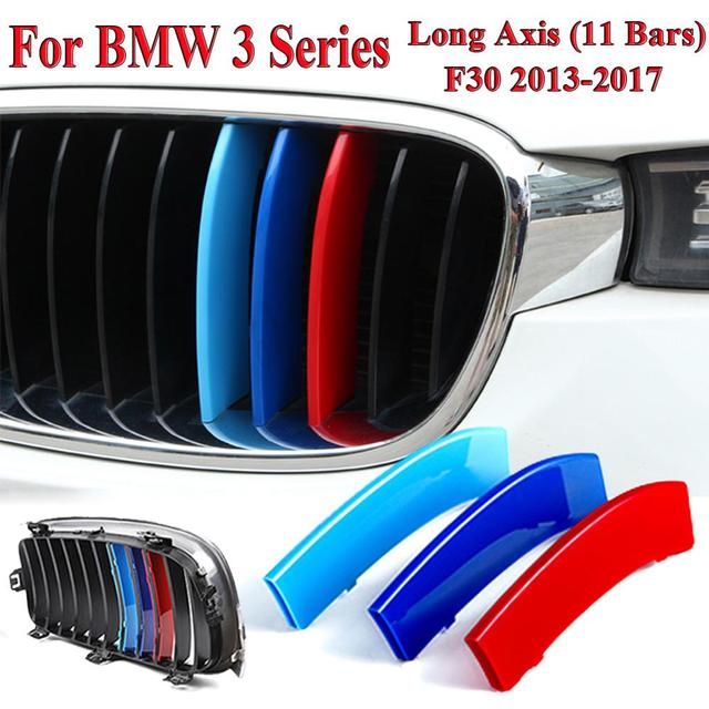 $ 3.79 3 Colors Set Racing Grille Fits  For BMW 3 Series F30 2013-2017 Kidney Grille Grill Cover Stripe Clip