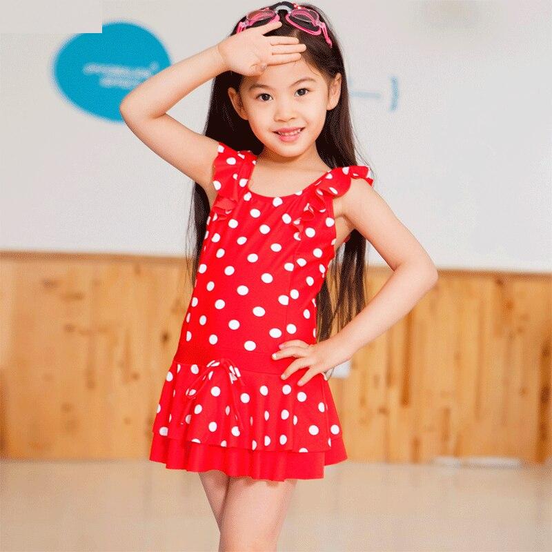 New Style KID'S Swimwear Dress-Big Boy Infant Little Princess Girls Hot Springs GIRL'S Baby Swimwear