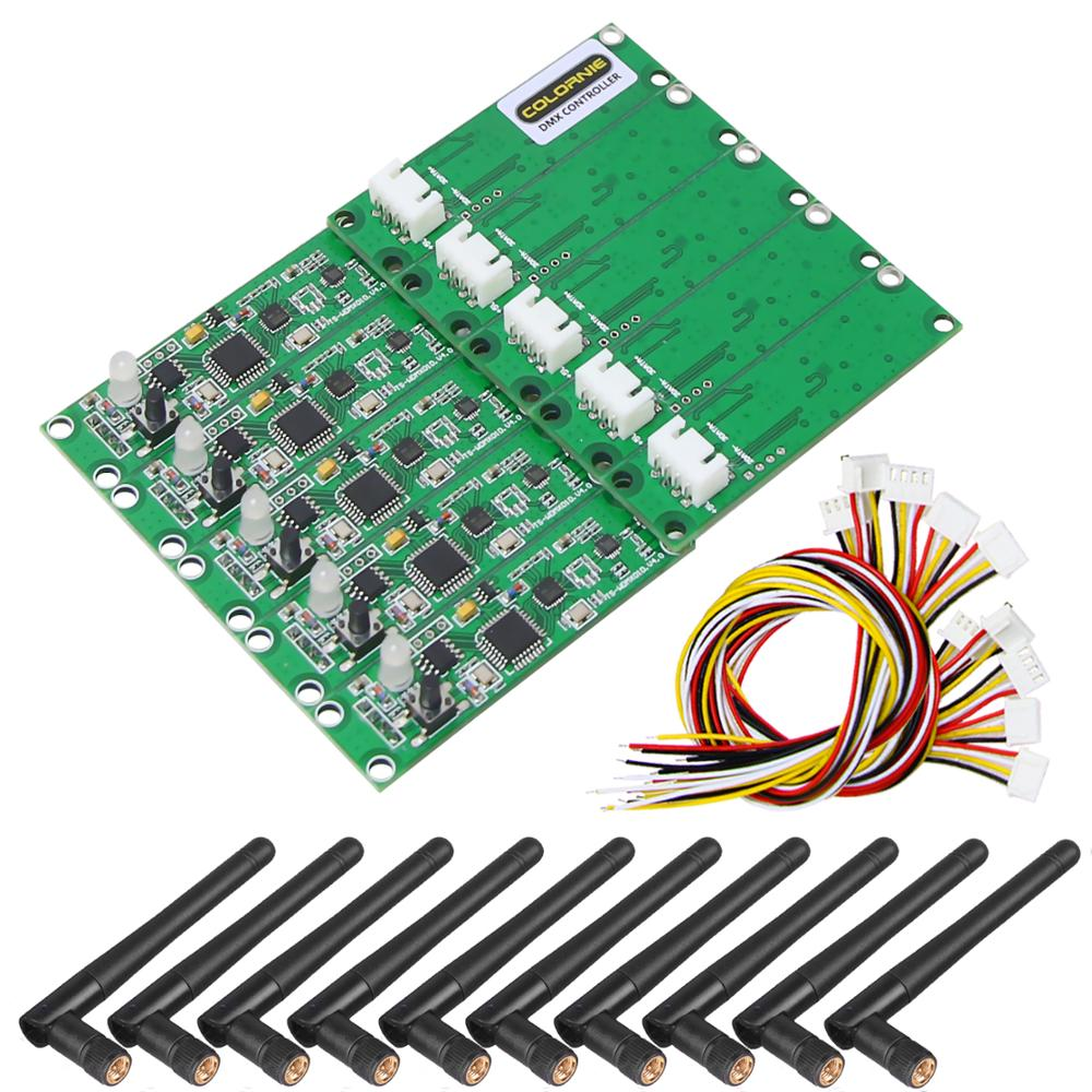 New Dmx512 Controller 10pcs Transmitter&Receiver 2 In 1 Wireless DMX512 Controller PCB Module Upgrade Stage Llighting