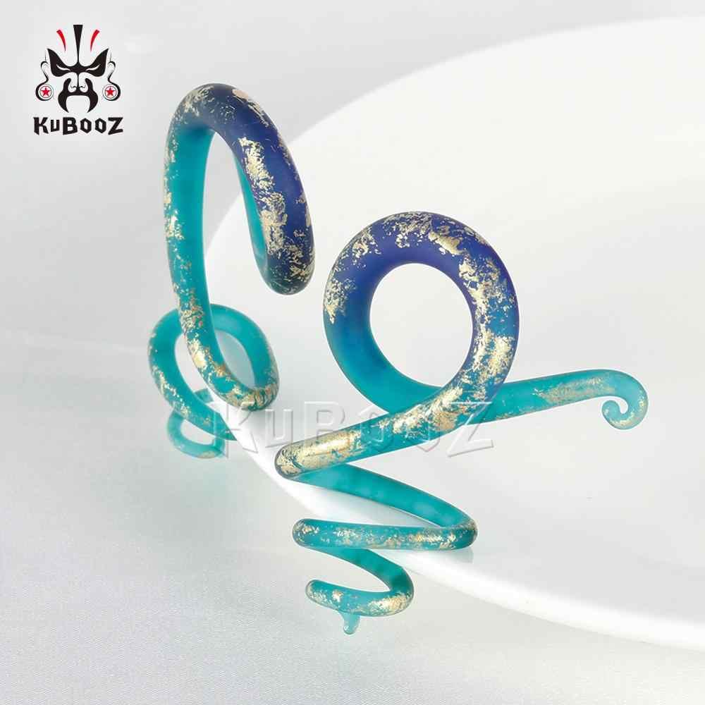 Красочные Пружинные расширители Для Пирсинга Ушей, ювелирные изделия для тела из плоти, подарок для мужчин и женщин, серьги-гвоздики от 6 мм до 10 мм