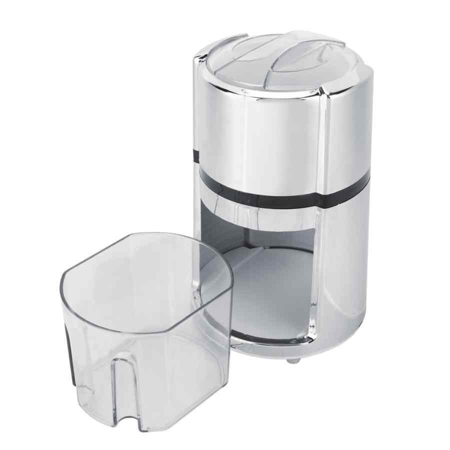 Stainless Steel Round Bentuk Engkol Tangan Manual Ice Crusher Mesin Serut Es Alat Dapur Pembuat Es