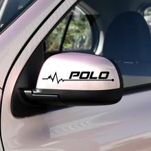 2 шт./лот автомобильный Стайлинг Зеркало заднего вида автомобиля Наклейка для VW Polo golf caddy Volkswagen Эмблемы автомобильные аксессуары