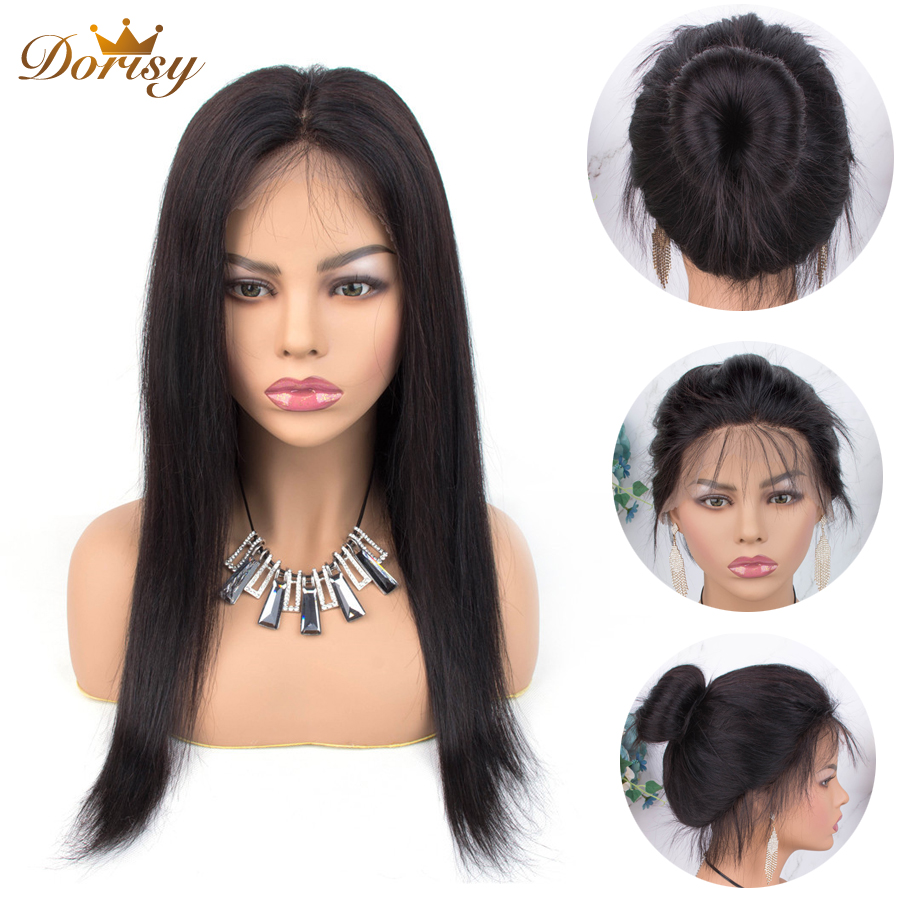 360 Lace Frontal Wig Human Hair Wigs For Black Women Pre Plucked With Baby Hair Brazilian Straight Lace Wig Dorisy Remy Hair