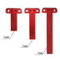 Aluminium Precisie Houtbewerking T 100/160/260mm timmerman Markering Rulemeasuring Gereedschap Gekruiste Ruler Meten-in Meters van Gereedschap op