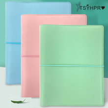 A5 Cute PVC Soft Leather Notebook Cover Office Personal Binde Leather Case Creative Handbook Cover