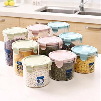 Food Preservation Container Coarse Cereals Grains Jar Scale Bottle Fresh Pot Kitchen Storage Cans Sealing Box Tank image