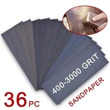 Furniture Sandpaper for Automotive Sanding-Wood Finishing Metal-Work 36pcs 400-3000-Grit