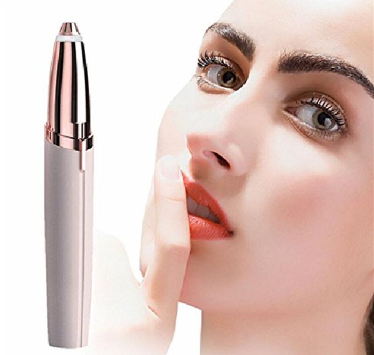 Female Brows Eyebrow Trimmer Mini Painless Eye Brow Epilator Face Razor For Women Eyebrow Trimmer Eye Brow Shaper Scissors