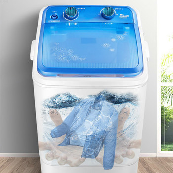 7kg Large Capacity Semi-automatic Washing Machine Portable Washing Machine  Mini Washing Machine  Washer and Dryer 220V 1