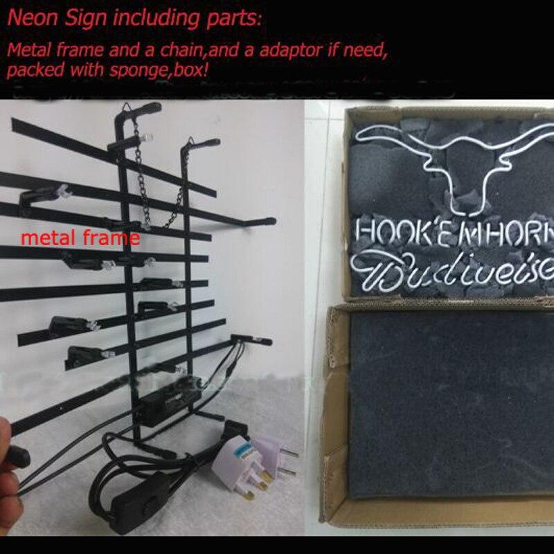 Cartel de neón de murciélago de la marca, personalizado, hecho a mano, tubo de cristal Real, tienda de cerveza, tienda, decoración del hogar, exhibición de letreros de neón 17X14 - 5