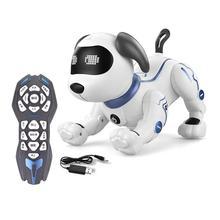 Электронная игрушка Смарт танец робот собака электронные игрушки для домашних животных Прямая поставка от производителя с музыкой светильник голос Управление режим петь танец Смарт собаки робот