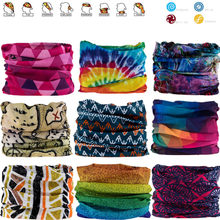 1451-1500 Outdoor Magic Bandana Cycling Sunshade Scarf Polyester Hiking Neck Cover Fishing Windproof Headband Multi Use Mask