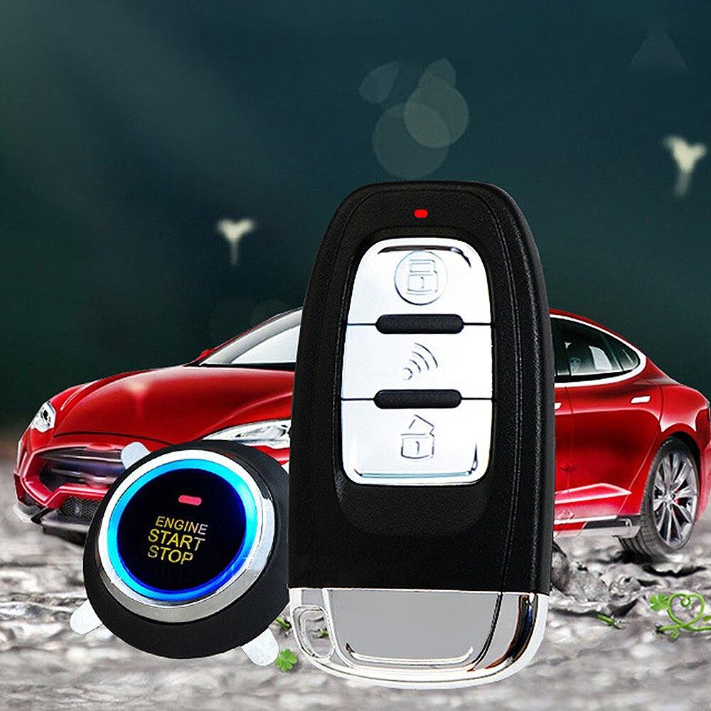 Auto voiture alarme voiture sans clé entrée moteur démarrage système d'alarme bouton poussoir démarreur à distance universel intelligent voiture bouton de démarrage système - 5