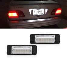 2 lumières de plaque d'immatriculation blanches SMD, Canbus, pour Benz classe E W210 E300 E320 E420 E430 E55 AMG classe C W202 C203 C280 C43 AMG