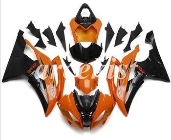 New ABS Motorcycle Full Fairings Kit Fit For YAMAHA YZF-R6 2008 - 2016 08 09 10 11 12 13 14 15 16 body set Orange Black