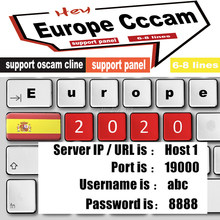 Satelliet Decoder Europa Cccam Portugal Polen Spanje Tv DVB-S2 Hot Europa Cccam Gratis Server Gtmedia V7S Hd 2 Jaar Volledige hd(China)