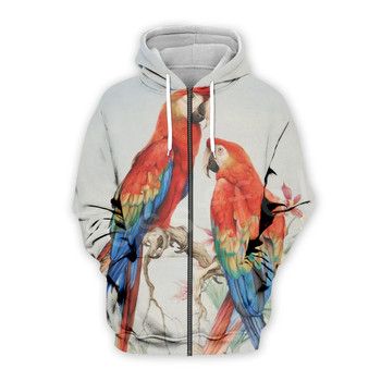 Tessffel Animal Parrot Unisex Colorful Funny NewFashion Tracksuit Harajuku 3DPrint Zipper/Hoodies/Sweatshirt/Jacket/Men/Women 14 2