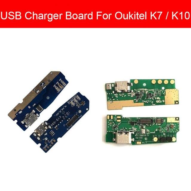 Usb充電 & マイクジャックポートボードoukitelためK7 K10 usb充電器コネクタモジュールusb充電器ボードの交換修理