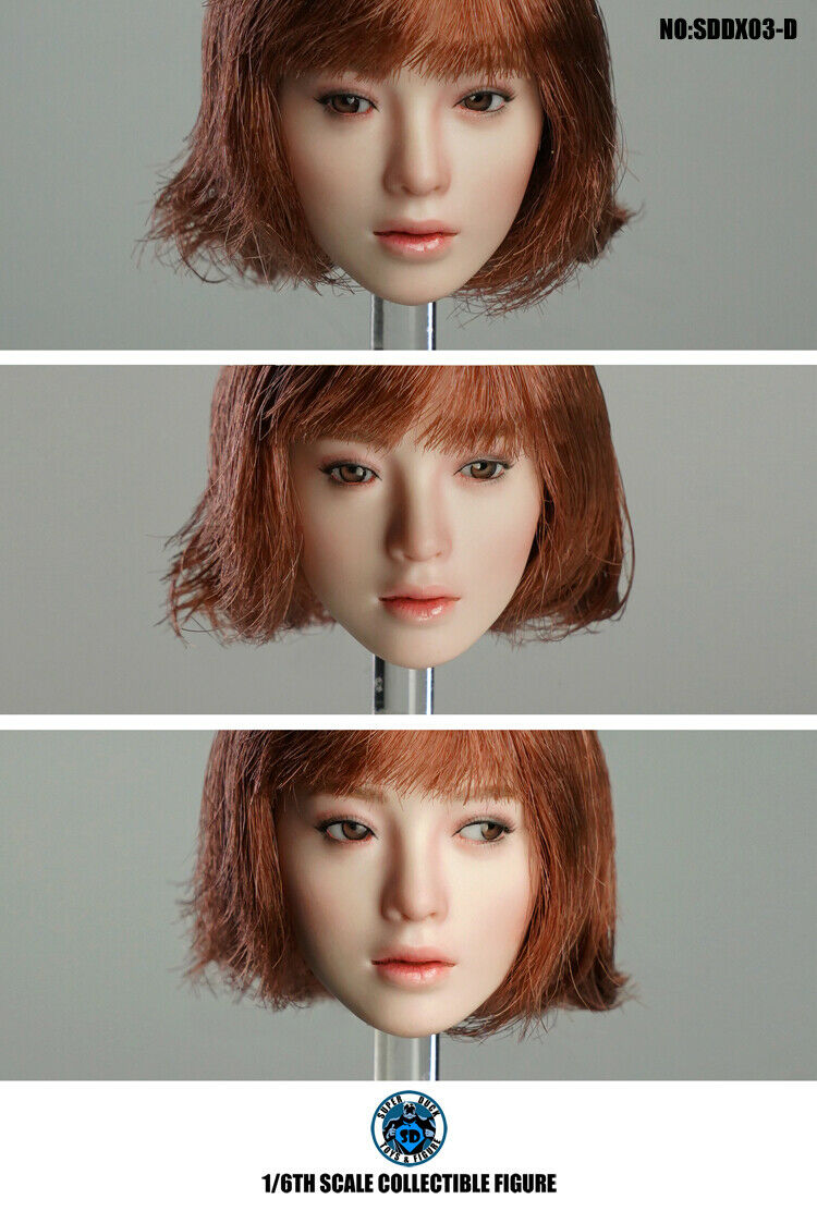 """SUPER DUCK SDDX03-A 1//6th Pale Head Sculpt Movable Eyes For 12/"""" PH Female Body"""