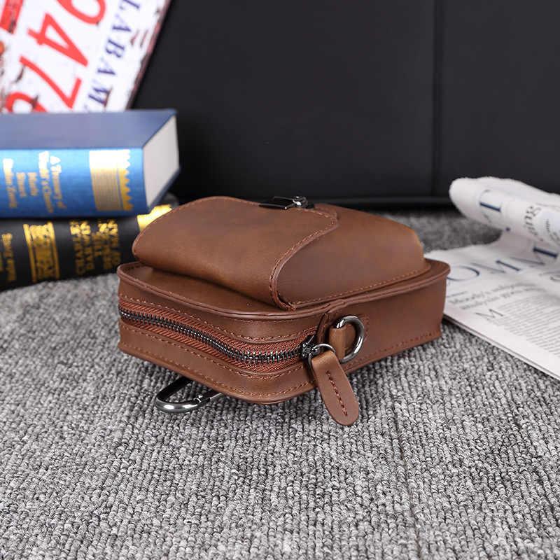 Nouveau sac de téléphone portable sac à bandoulière en cuir pour hommes mini sac de loisirs de plein air