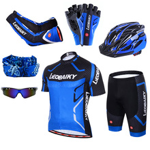 Breathable Pro Team Cycling Jersey Set Men Bicycle Sportswear Bike Skinsuit Male Quick-Dry Mtb Clothing Short Sleeve