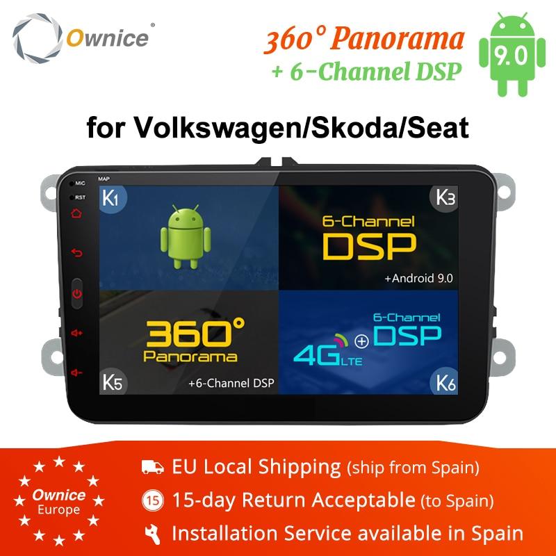 Ownice K3 K5 K6 Android 9.0 2din voiture lecteur DVD pour VW Polo Golf Passat Tiguan Skoda Yeti superbe rapide Octavia Volkswagen Toledo