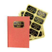 80 Pcs/lot Black GoldenLove is the Key to Happiness  Sealing Labels Rectangle Sticker For Gift baking Cake Packing Bags