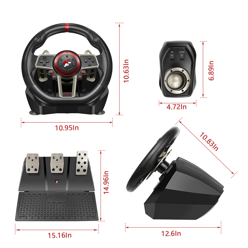 2021 Gamepad Controller Gaming Steering Wheel 900° Racing Video Game Vibration For PC/PS3/PS4/Xbox-One/Xbox 360/N-Switc 4