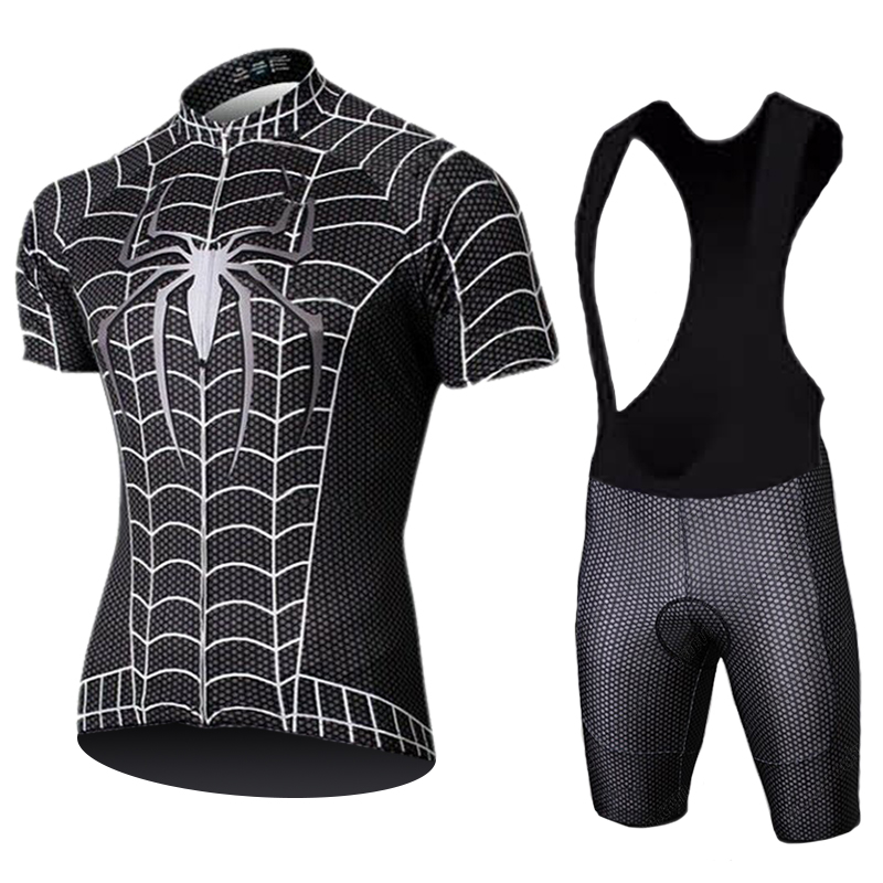 2020 Marvel Heros Spider Man Cycling Jersey Set 9D Bike Shorts Set Ropa Ciclismo Mens Summer Quick Dry Pro Cycling Maillot Cycling Sets     - title=